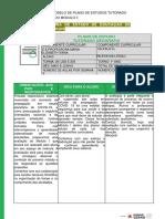 Modelo de Plano de Estudo Tutorado 2 ano PET II