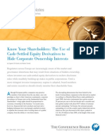 Financial Derivatives to Hide Equity Ownership