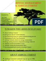 ENVIRONMENTAL MANAGEMENT PLAN OF AMBUJA CEMENT