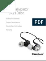 Westone Universal Monitor (UM3X etc.)