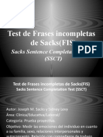 Test de Frases incompletas de Sacks(FIS)