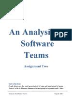 An Analysis of Teams
