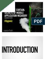 Behind the Curtain - Secrets to Mobile App Wizardry - Paul Gelb Razrofish SXSW