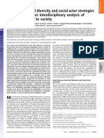 Linking functional diversity and social actor strategies in a framework for interdisciplinary analysis of nature's benefits to society