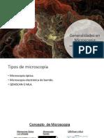 Generalidades en Microscopia