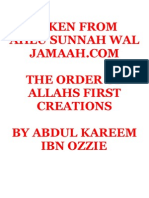 The Order of Allahs First Creations