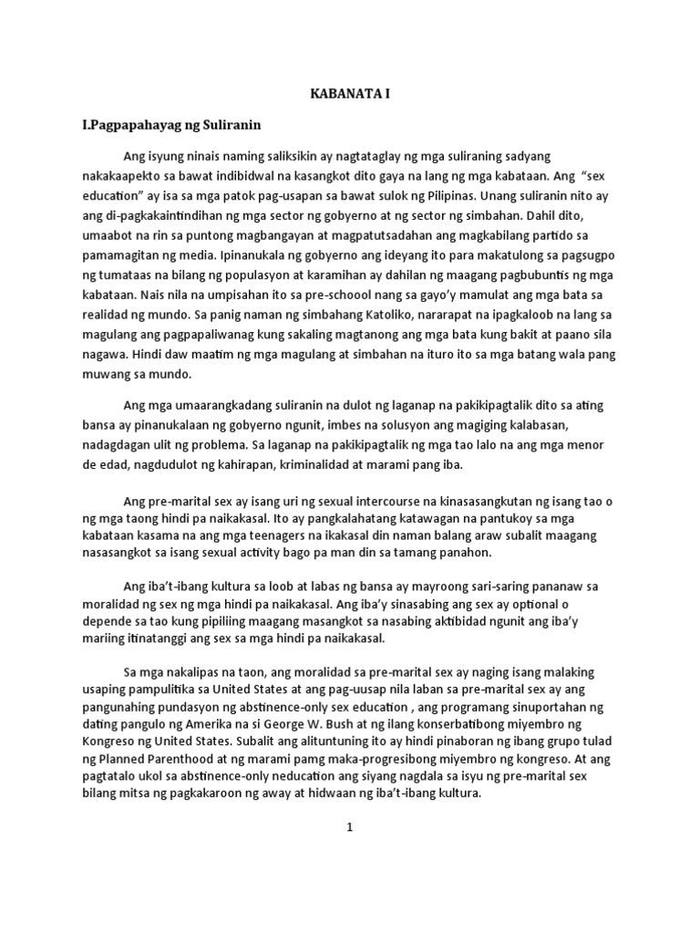 research paper paglalahad ng suliranin