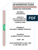 Aplicaciones de La Topografia en La Agricultura_rolando Jimenez Crisanto_iagr402