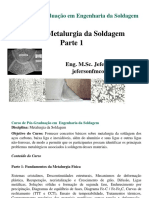 Introdução a Metalurgia Da Soldagem Parte 1 2020
