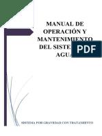 Manual de Operación y Mantenimiento Sistema de Gravedad Con Tratamiento