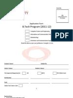 Admission Form -  B Tech 2011-12(2)