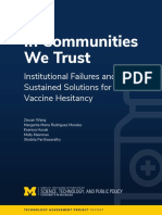 In Communities We Trust--Vaccine Hesitancy Full Report