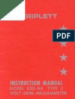 Triplett Model 630 NA Manual