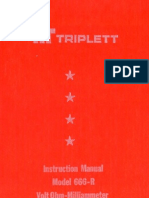 Triplett Model 666 R Manual