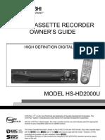 mitsubishi hs-hd2000u manual