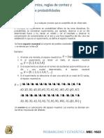 2.1 Experimentos, reglas de conteo y asignacion de probabilidades