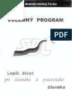 Predvolebný program SDĽ z roku 1998