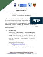 017-Res No_ 1857 I Capacitación y Campeonato Nacional e Internacional de BUceo