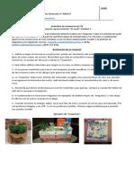 Cs. Naturales 6° Básico actividad n°9 Evaluación maqueta el suelo