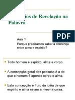 Princípios de Revelação na Palavra - aula 1
