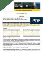 XP Arena do Investidor - Carteiras Recomendadas Top Picks Outubro 2019