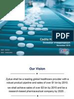 Zydus - Investor Presentation (Nov 10)