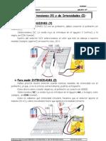 2-Práctica Electricidad MEDIDA TENSIONES Y DE INTENSIDADES