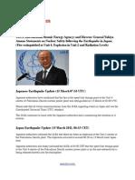 IAEA and Director General Yukiya Amano Statements on Nuclear Safety