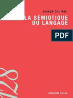 La sémiotique du langage (J. Courtés, Armand Colin, 2007)