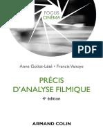 Précis d'analyse filmique 4e édition (A. Lété Goliot, F. Vanoye. Armand Colin, 2015)