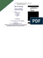 Rudolf Steiner - Fundamentals of Theraphy