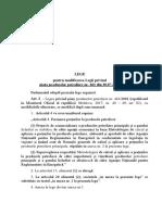 Legea Pentru Modificarea Si Comp.ro