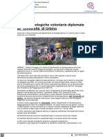 Guardie Ecologiche Volontarie diplomate all'Università di Urbino - Il Metauro.it, 12 maggio 2021