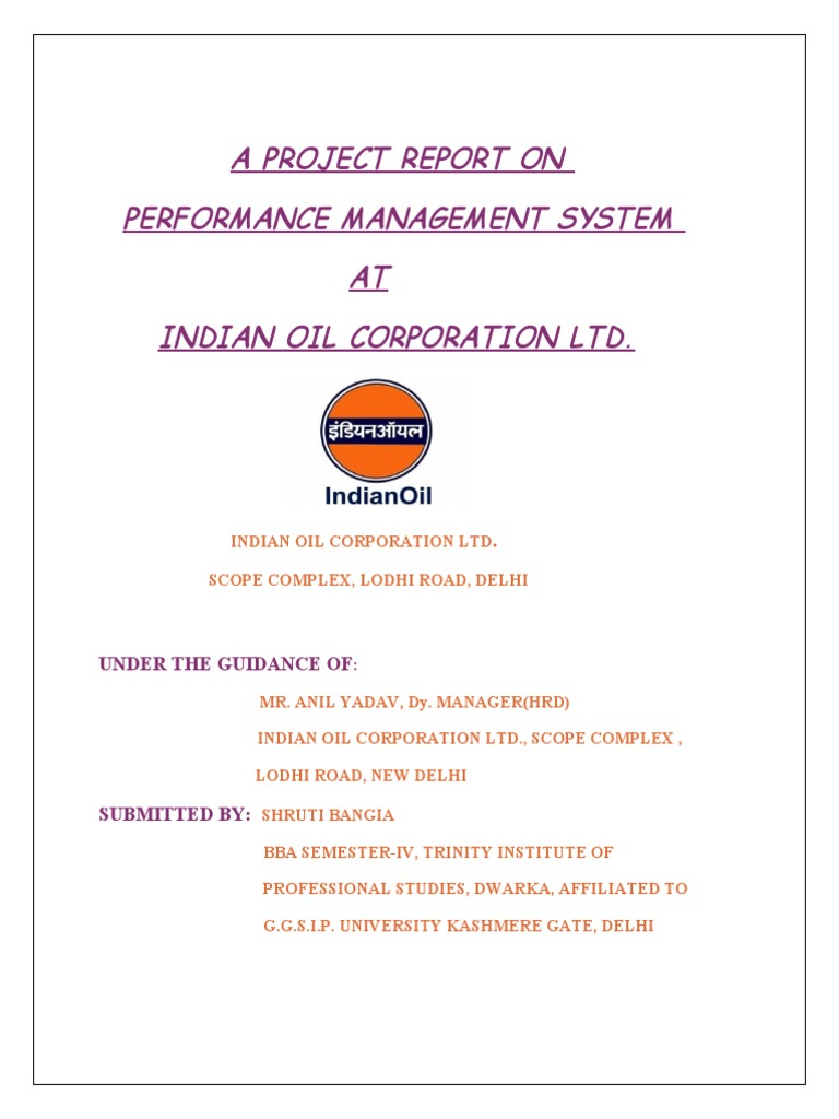 iocl project report