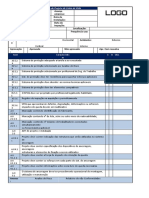 Check List de Inspeção de Projeto de Linha de Vida Fixa
