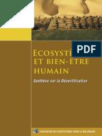 Ecosystèmes - Synthèse Sur La Désertification