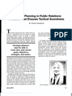 Daugherty, Strategic Planning in Public Relations