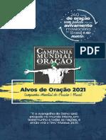 Campanha Mundial de Oração (CMO) 2021
