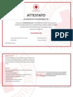 Corso Di Formazione Per Volontari Della Croce Rossa Italiana Di Marian Balan Attestato