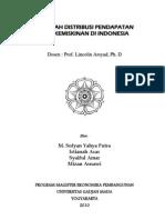 DISTRIBUSI PENDAPATAN DAN KEMISKINAN DI INDONESIA