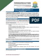 Edital UFT 1 2020