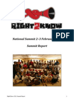 Right2Know National Summit Report 2011