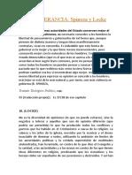 LA TOLERANCIA- Spinoza y Locke