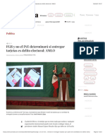 La Jornada - FGR y no el INE determinará si entregar tarjetas es delito electoral