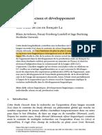 Arvidsson, Forsberg Lundell & Bartning (2019) Reėseaux sociaux et deėveloppement linguistique (1)