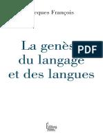 La genèse du langage et des langues (J. François. Sciences humaines, 2017)