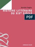 Histoire littéraire du XIXe siècle (A. Foglia. Armand Colin, 2014)