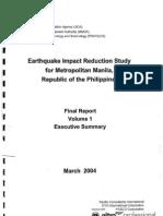 Earthquake Impact Reduction Study for Metro Manila 2004