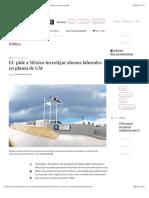 La Jornada - EU pide a México investigar abusos laborales en planta de GM