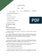 Ley General de Turismo - Ley 29408